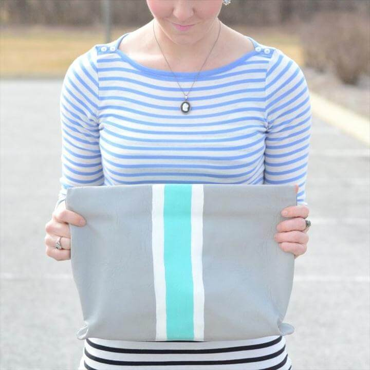 DIY striped clutch