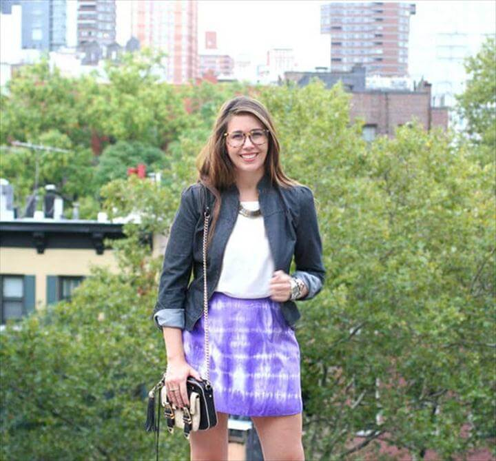 DIY Tie Dye Projects and Crafts - Spy DIY Tie Dye Skirt - Cool Tie Dye