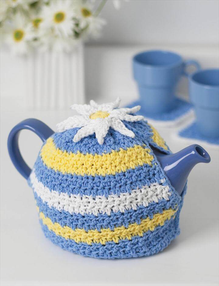 99 pretty marvelous crochet tea cozy pattern diy to make for Tea cosy template