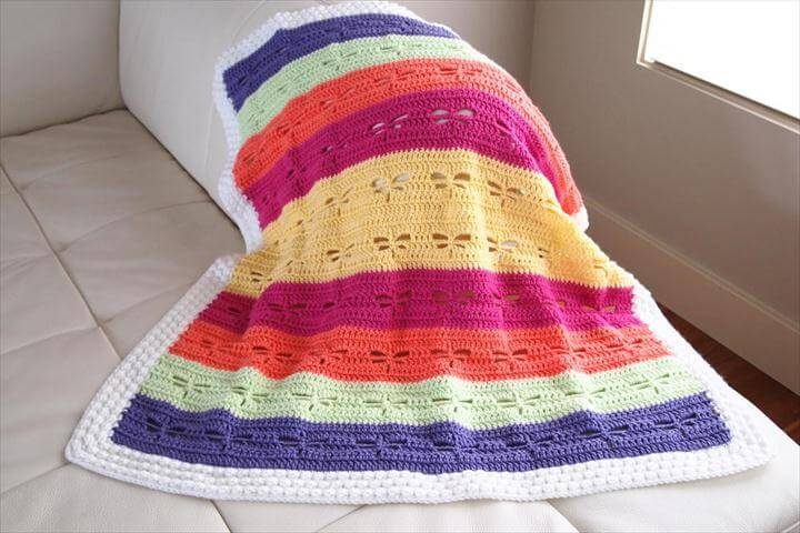 crochet colorful blanket