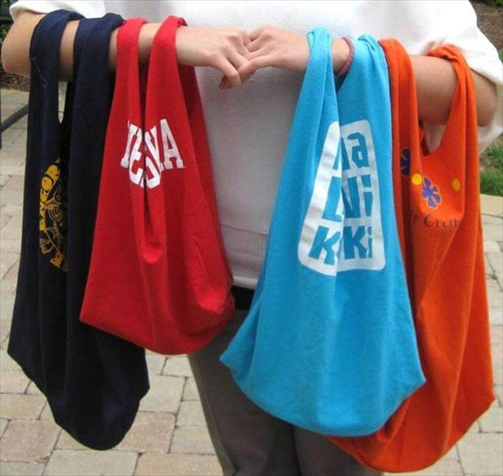 T-Shirt Tote Bags, Easy DIY Sewing Projects