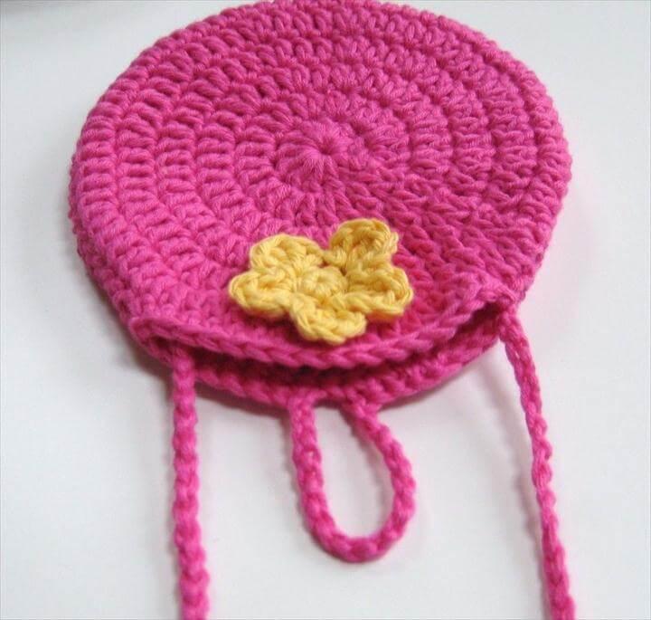 Crochet bag, Easy round circle bag,