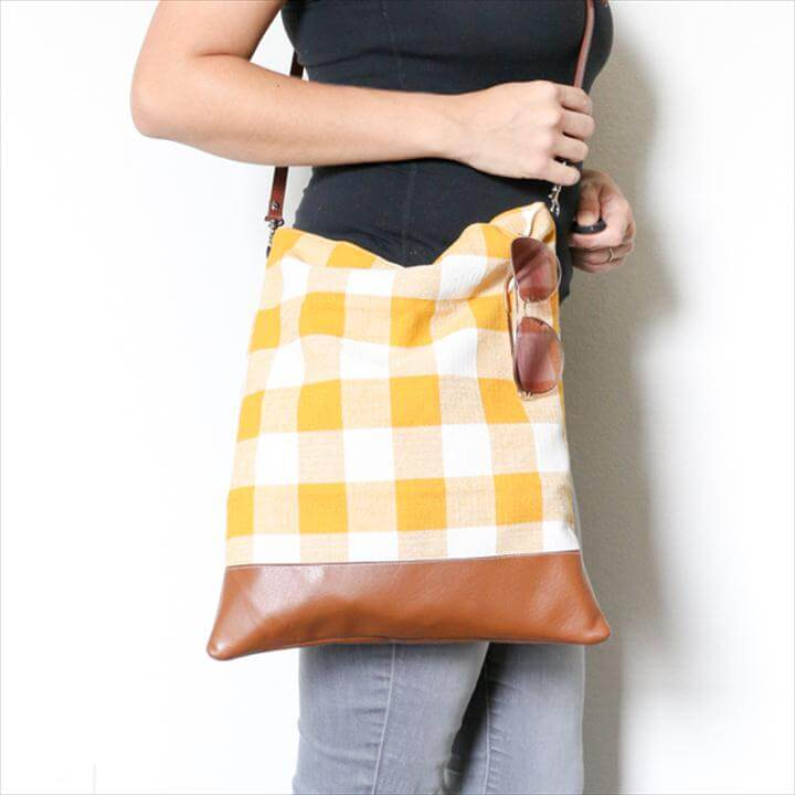 Easy Sewing project for beginners - How to Sew a tote bag - Crossbody bag -