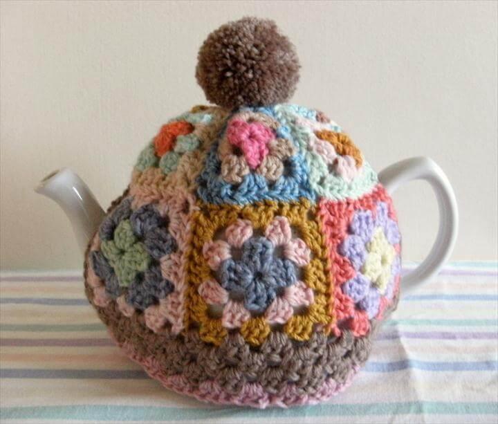 GRANNY SQUARE Tea Cosy Pattern