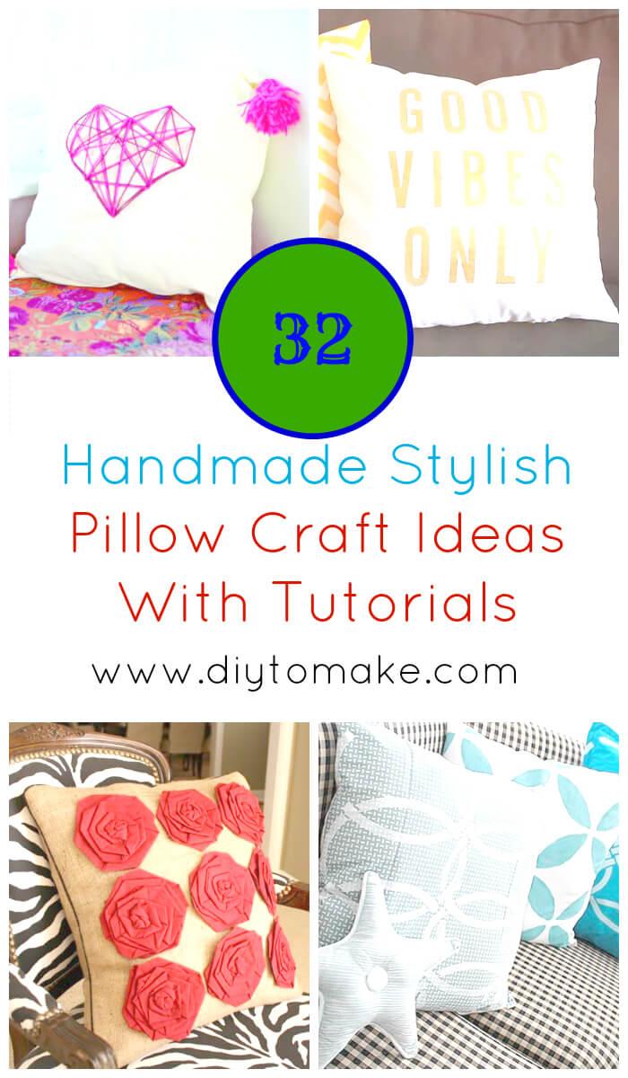 32 Handmade Stylish Pillow Craft Ideas With Tutorials