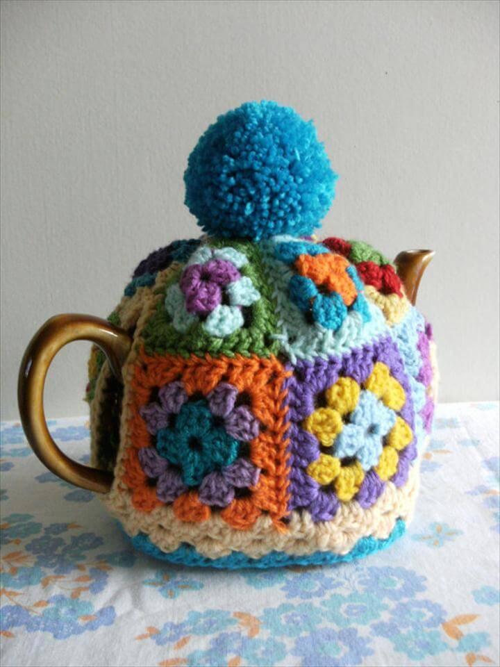 GRANNY SQUARE Tea Cosy Pattern / Tutorial.