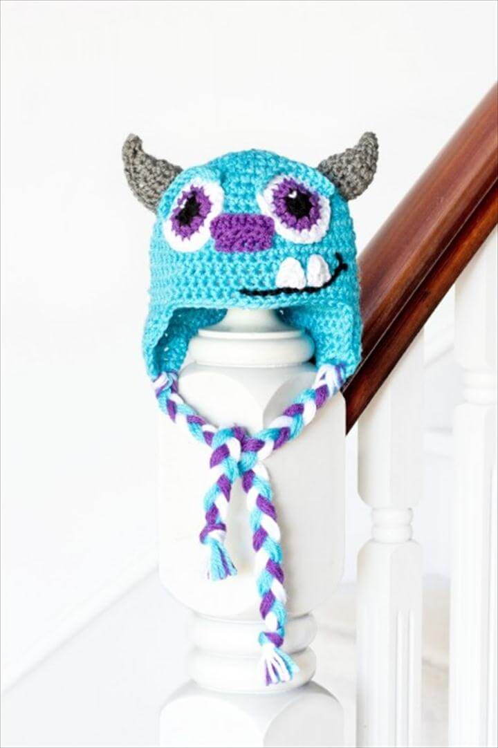 Monsters Inc Sulley Inspired Baby Hat