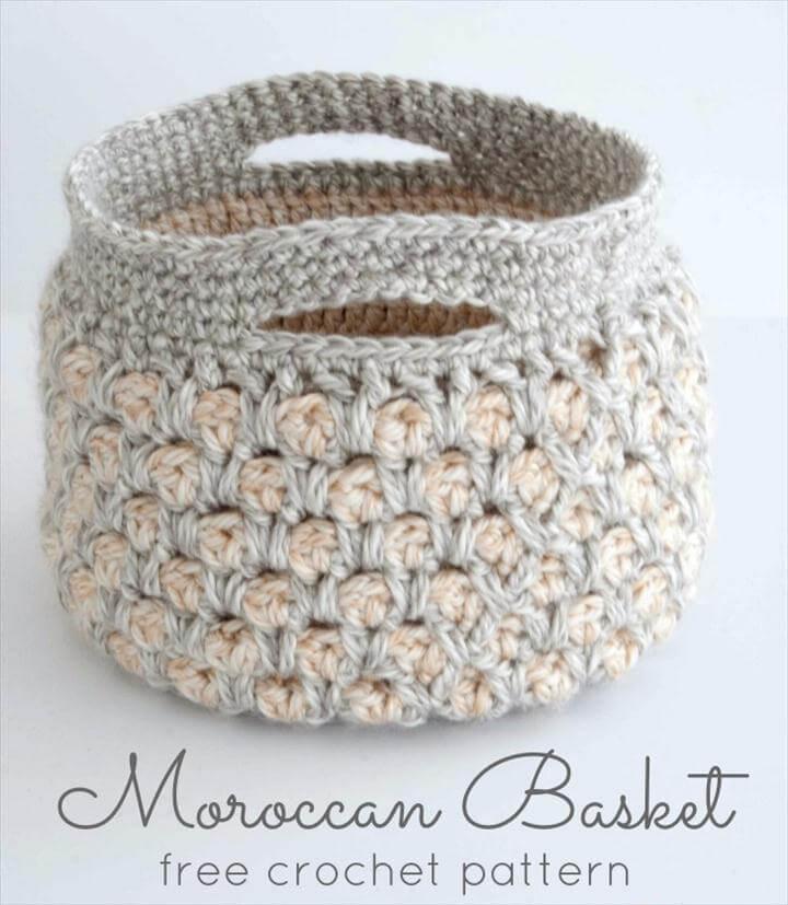 Moroccan Basket - free crochet pattern
