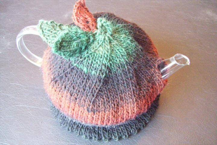 light color crochet tea cozy