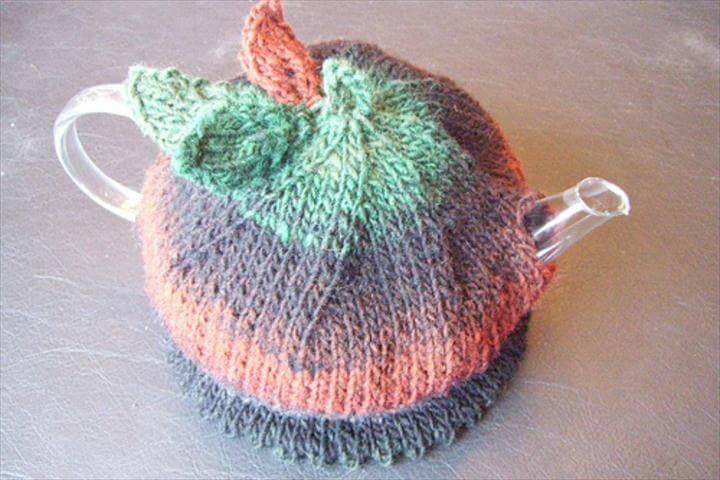 light color crochet tea cozy