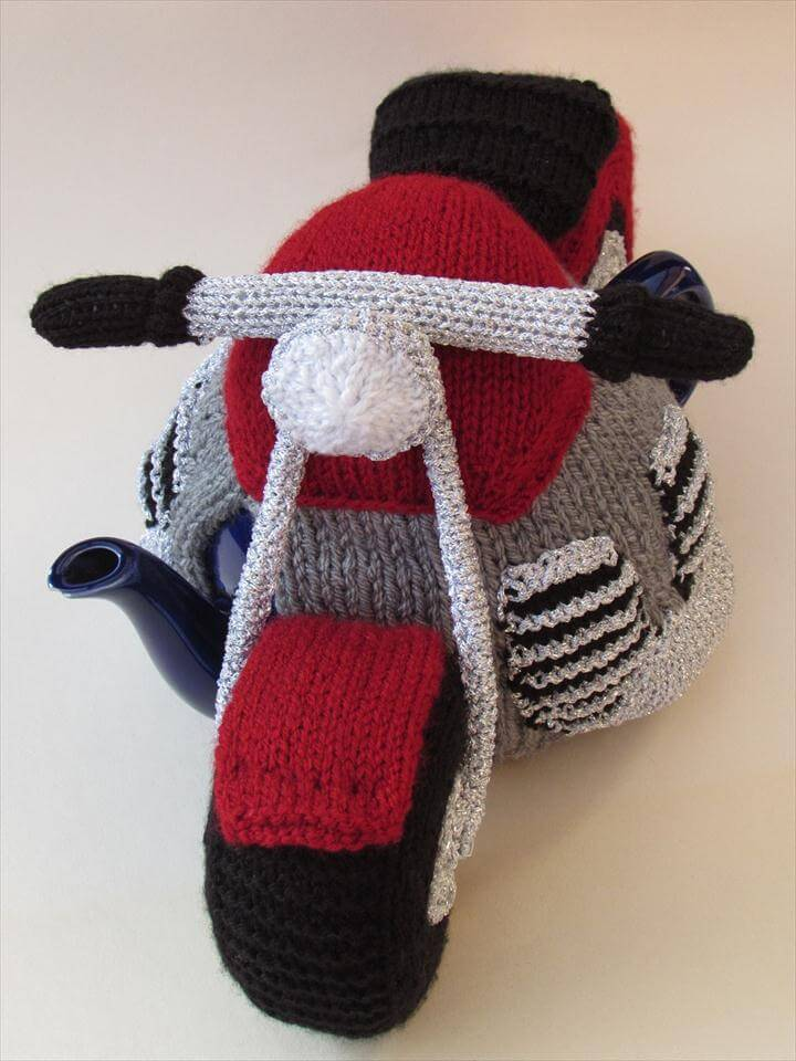 Motorcycle tea cosy
