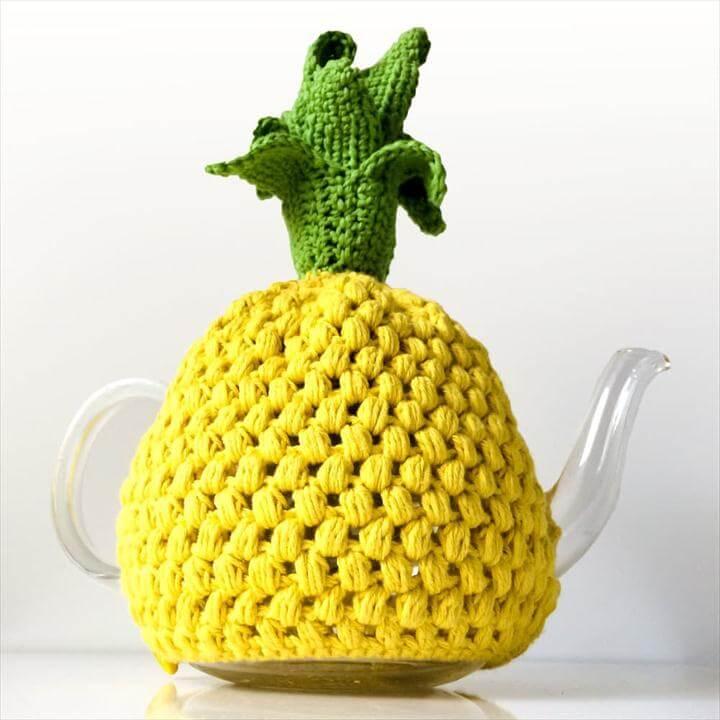 Pineapple Tea Cosy Crochet Patterns