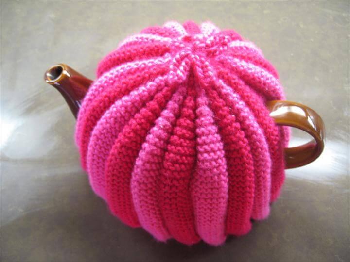 pink crochet tea cozy
