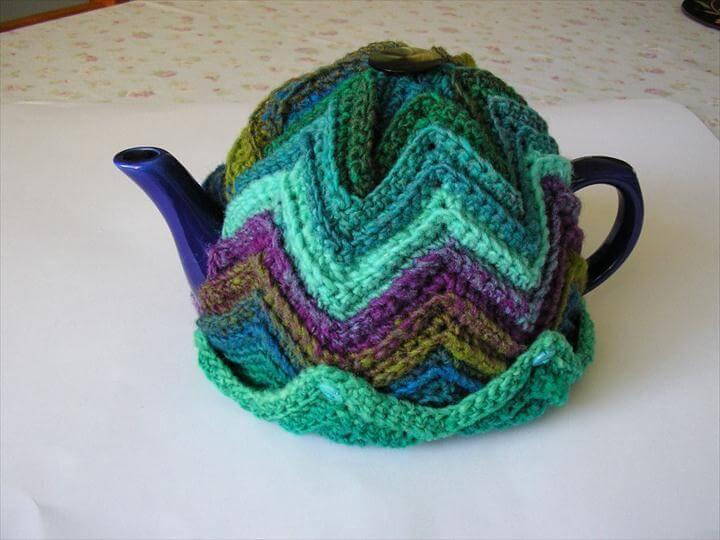 Justjen's Easy Ripple Tea Cosy