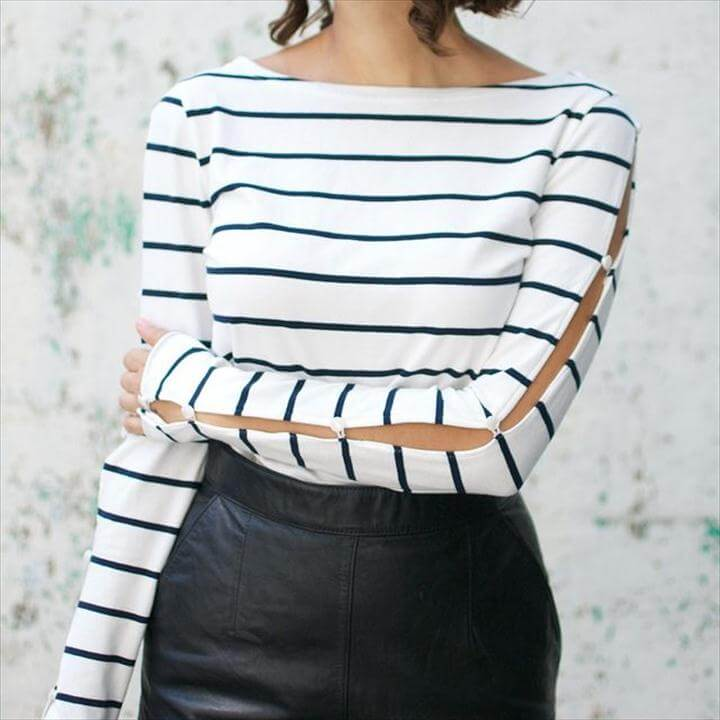 Cute DIY cuts and button sleeves