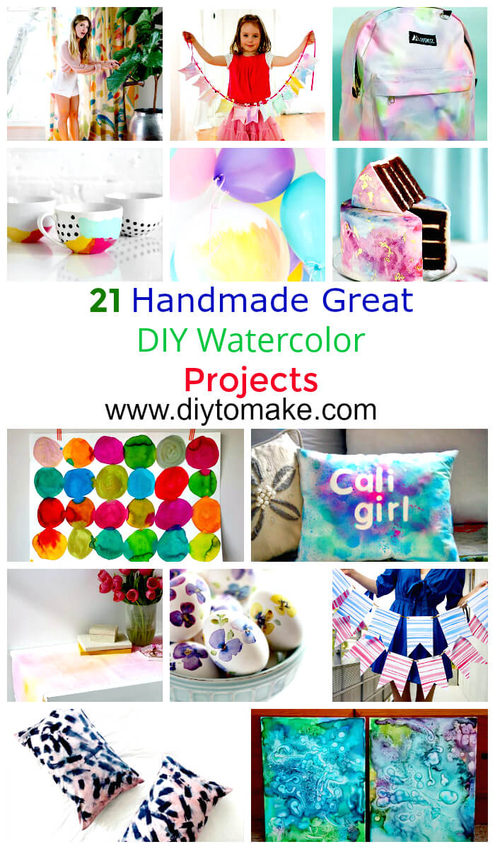 21 Handmade Great Diy Watercolor Projects Diy To Make
