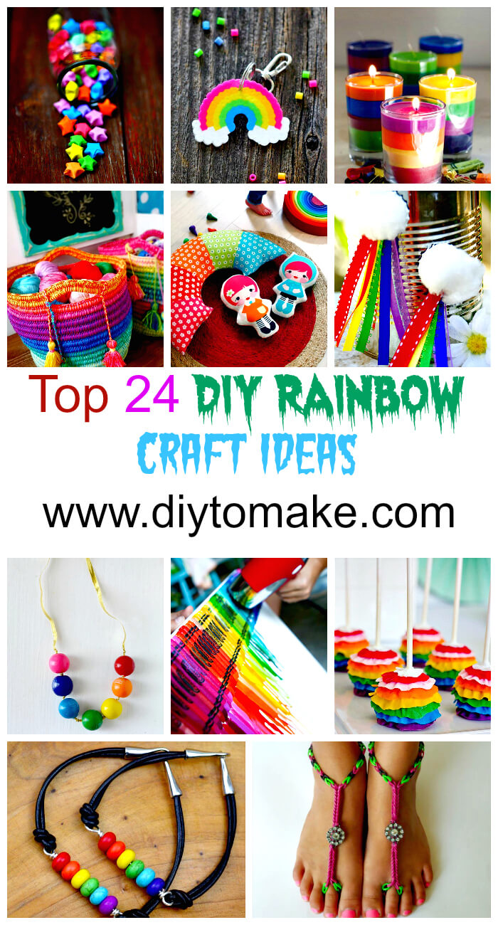 Top 24 DIY Rainbow Craft Ideas