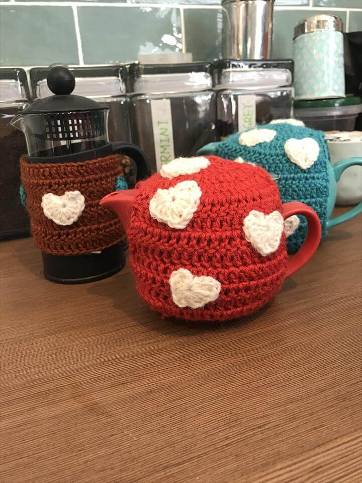 Free Crochet One Cup Teapot Tea cozy