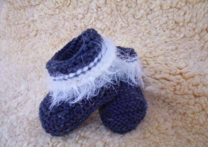 ugg baby booties knitting pattern