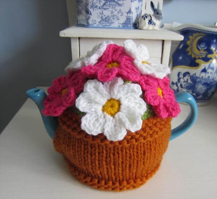 Flower Pot Tea Cosy