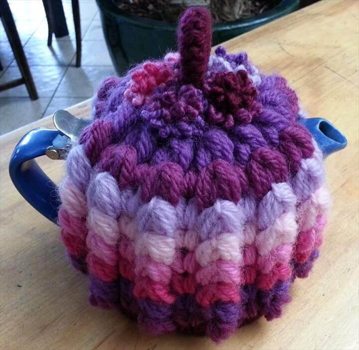 Inspired Crochet Tea Cozy Free Pattern