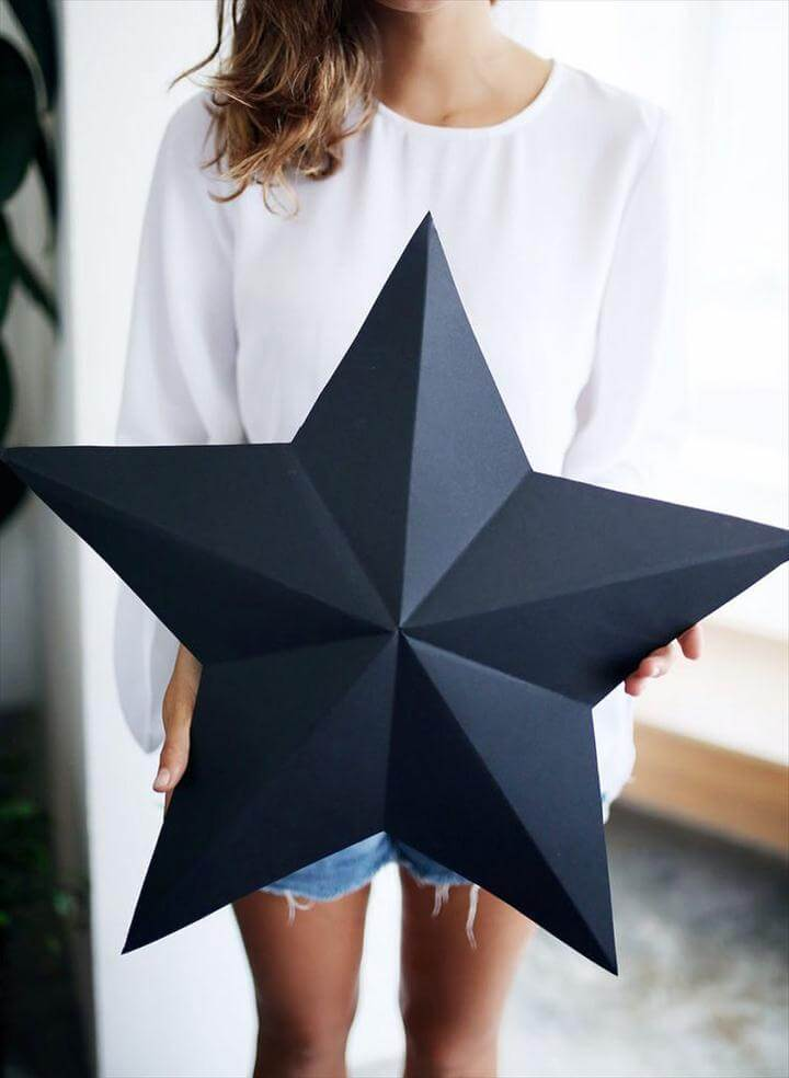Holiday DIY: 3D Star Decorations / Gift Boxes