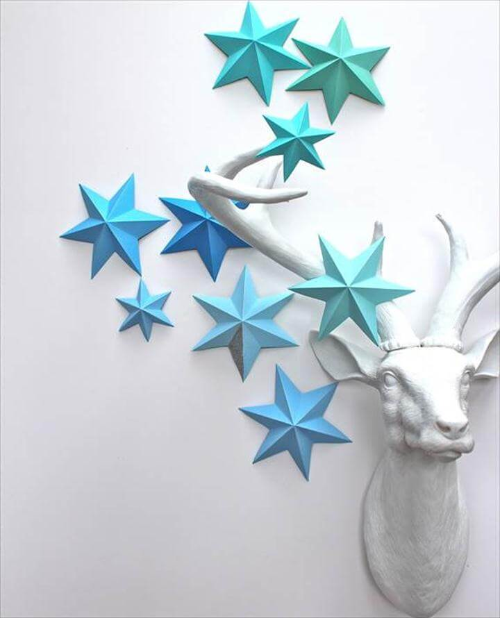 DIY 3D Paper Star Ornaments