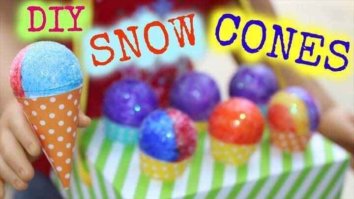 DIY American Girl Doll Snow Cones