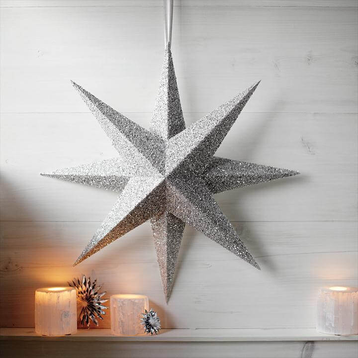 diy star, glitter star