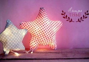 DIY Fabric Star Lights