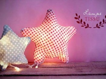 DIY Fabric Star Lights