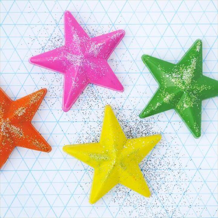 DIY star crayons for anytime or party favors, easter, etc