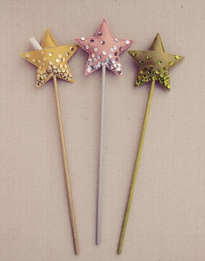Fairy Tale Wands, DIY star wand.... Cute idea for little girls