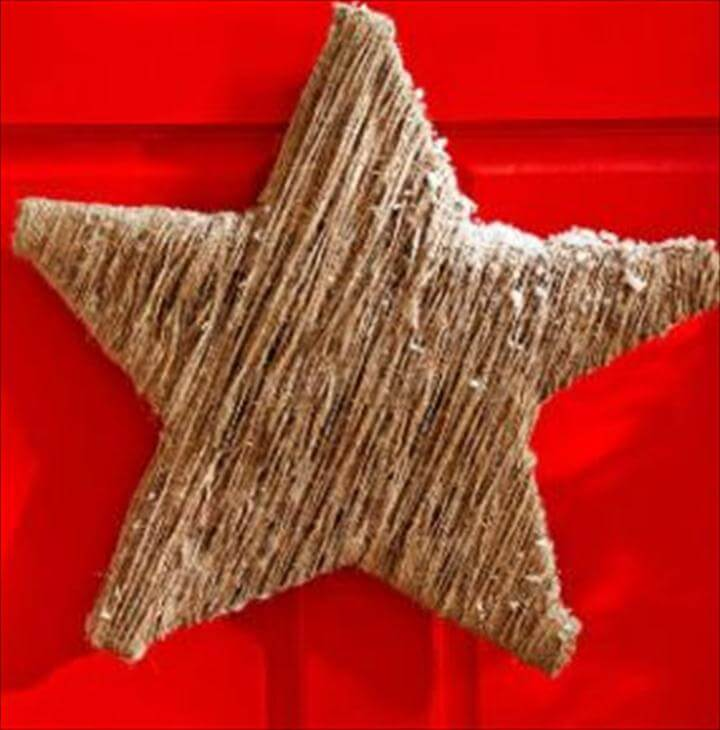 DIY Twine Star - try this on a smaller scale using Popsicle sticks & embellish them