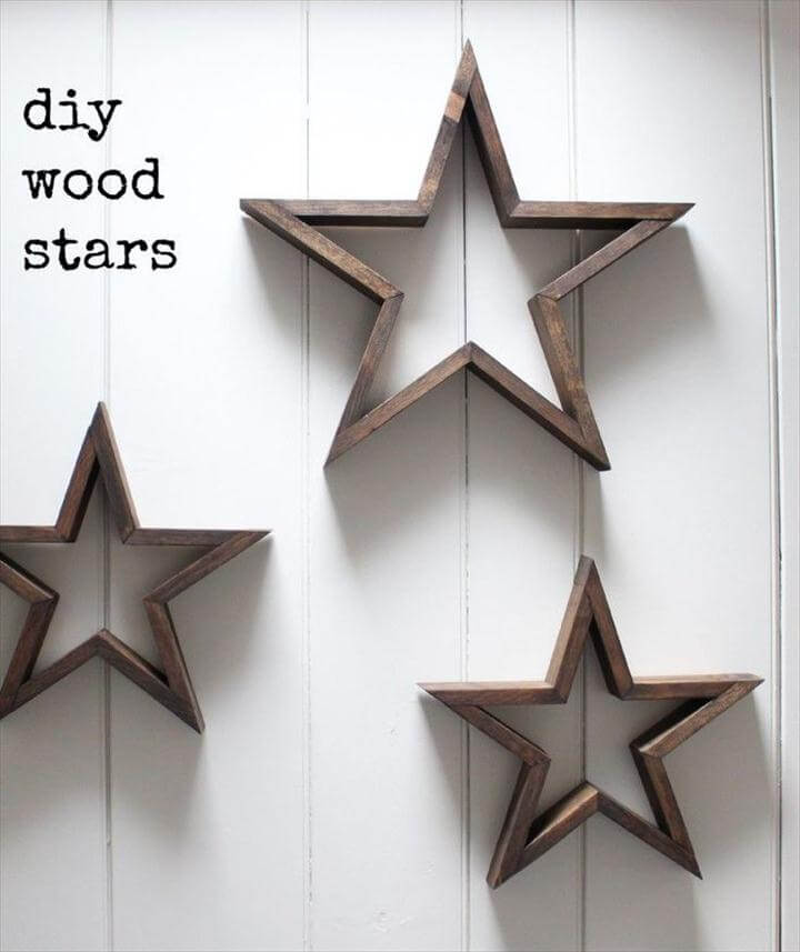 DIY wooden frame stars, DIY Star Decor