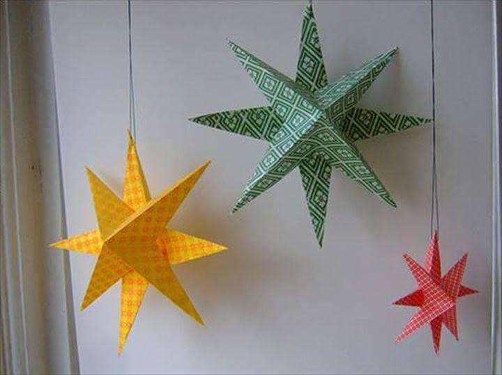 DIY Easy Paper Star Decor