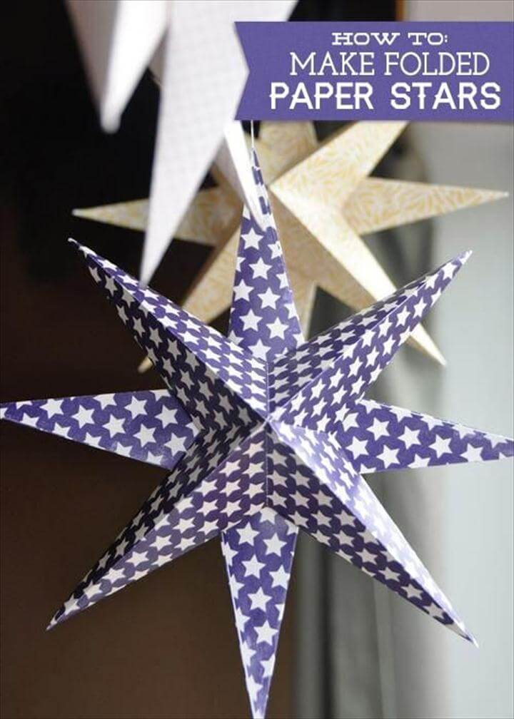 DIY STAR : DIY Make a Folded Paper Star