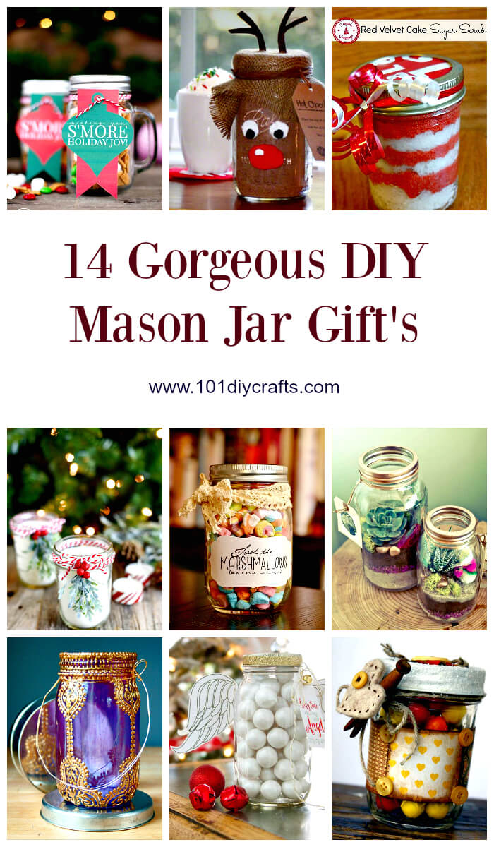 14 Gorgeous DIY Mason Jar Gift's