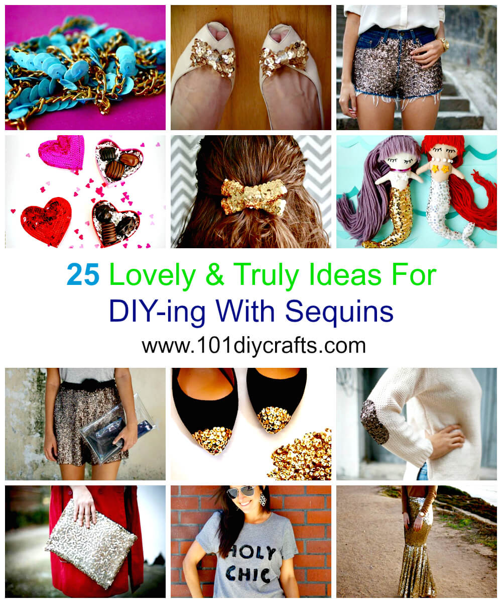 25 Lovely & Truly Ideas For DIY-ing With Sequins