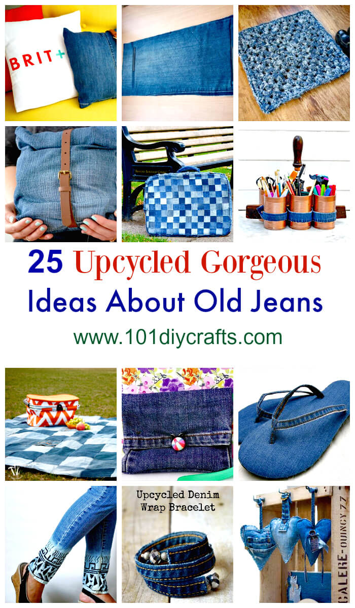25 Upcycled Gorgeous Ideas About Old Jeans.
