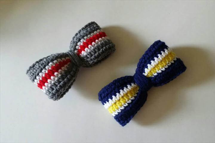Ohio State Bow. Michigan Bow. OSU Barrette. French Barrette. Crochet Hair Accessory. Collegiate Wear. College Football. Free Shipping