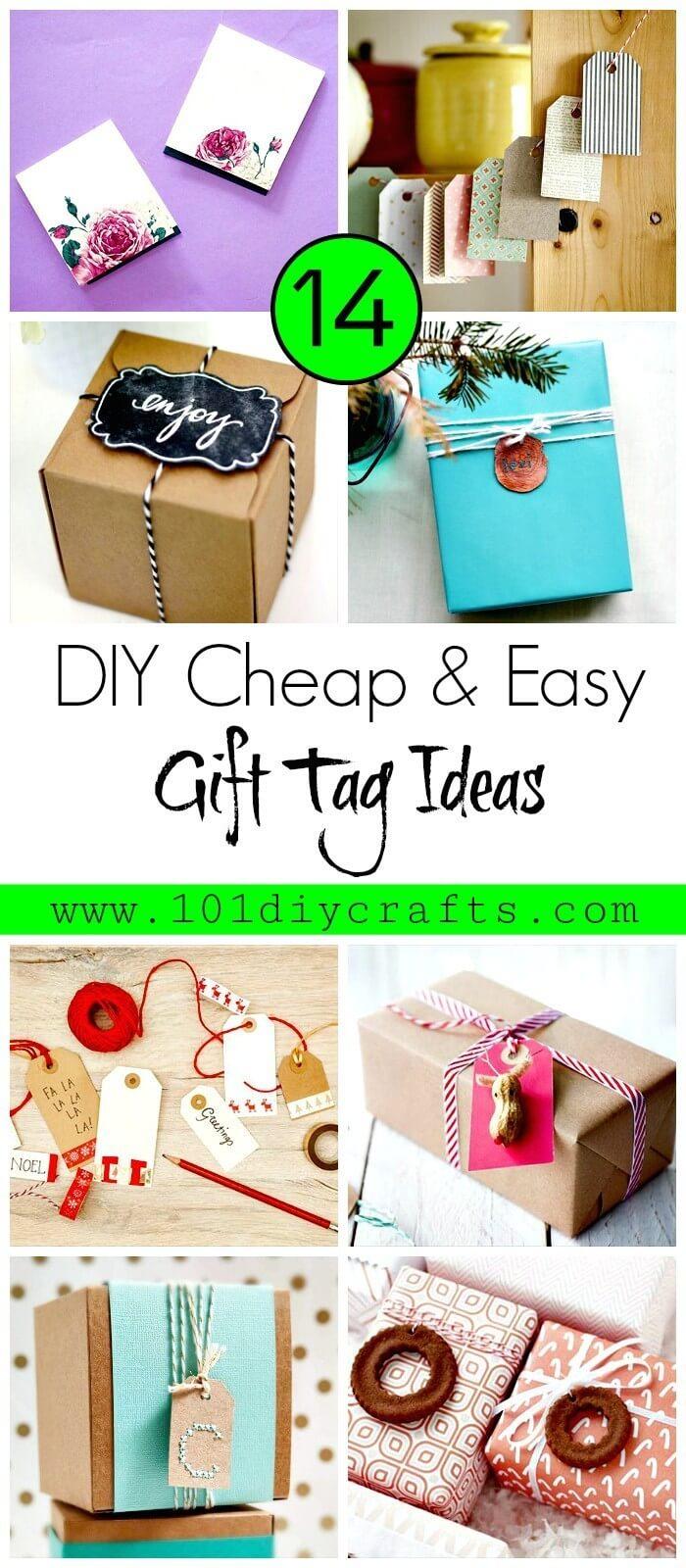 14 DIY Cheap & Easy Gift Tag Ideas
