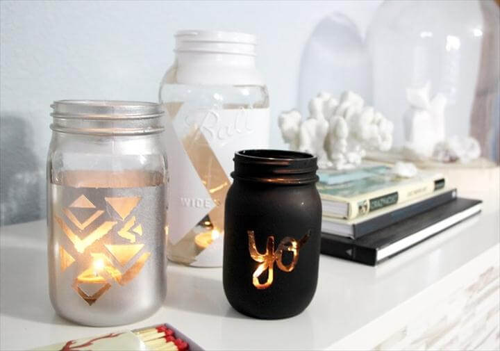 Craft Crush: DIY Mason Jar Candle Holder