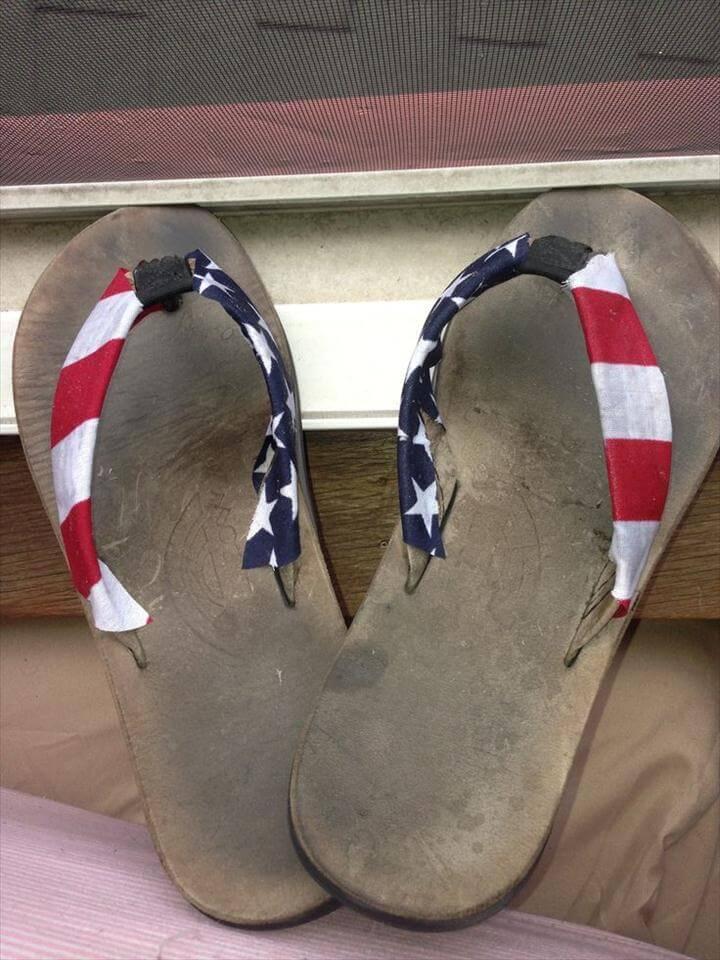 American flag flip flops DIY