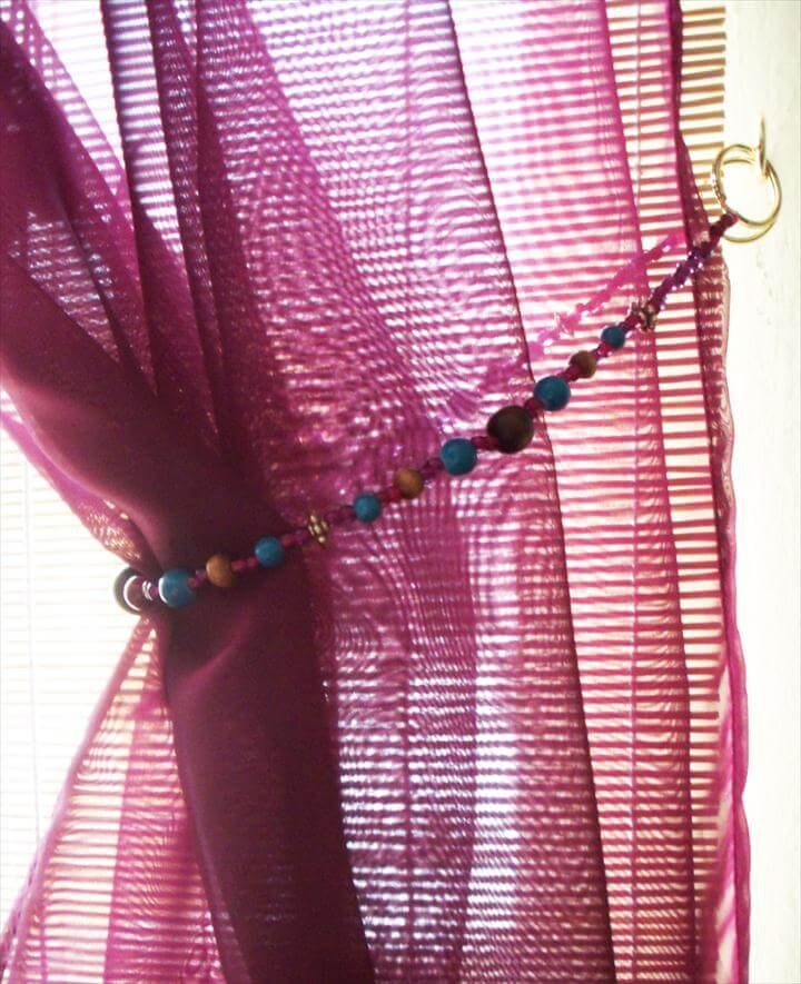 beaded curtain tieback