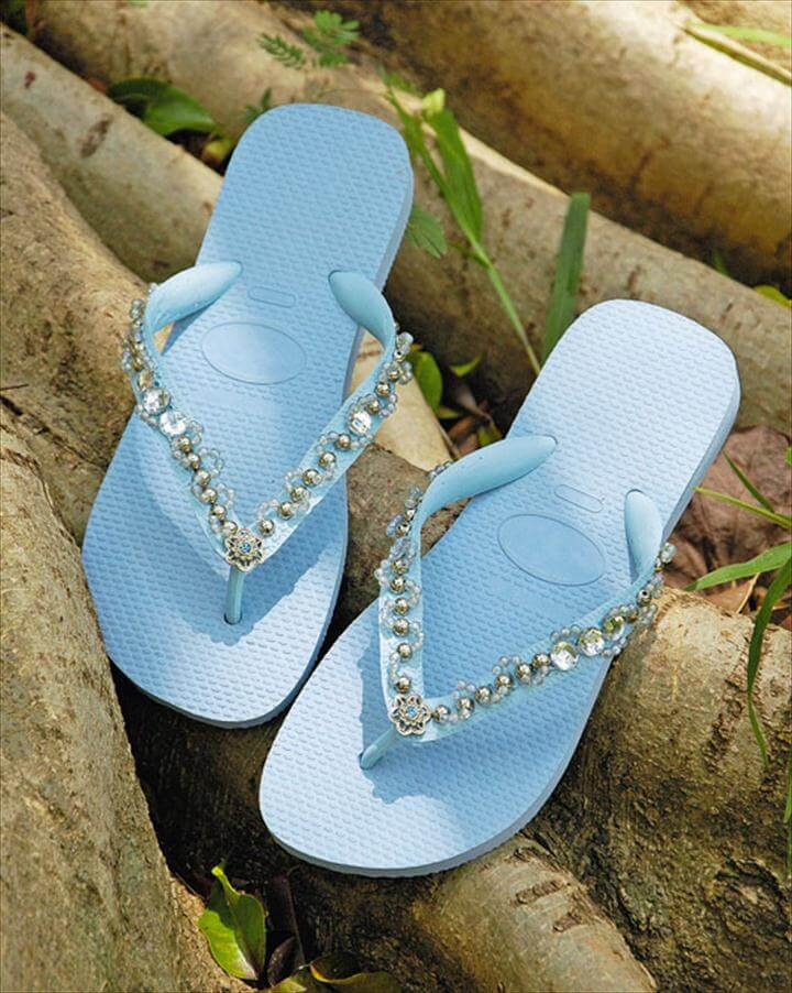 DIY flip flop ideas with beads