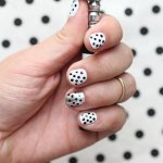 DIY polka dots nail art ideas