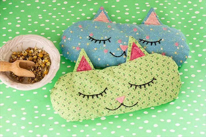 DIY: 'Cat Nap' Eye Pillows + Free Sewing Pattern