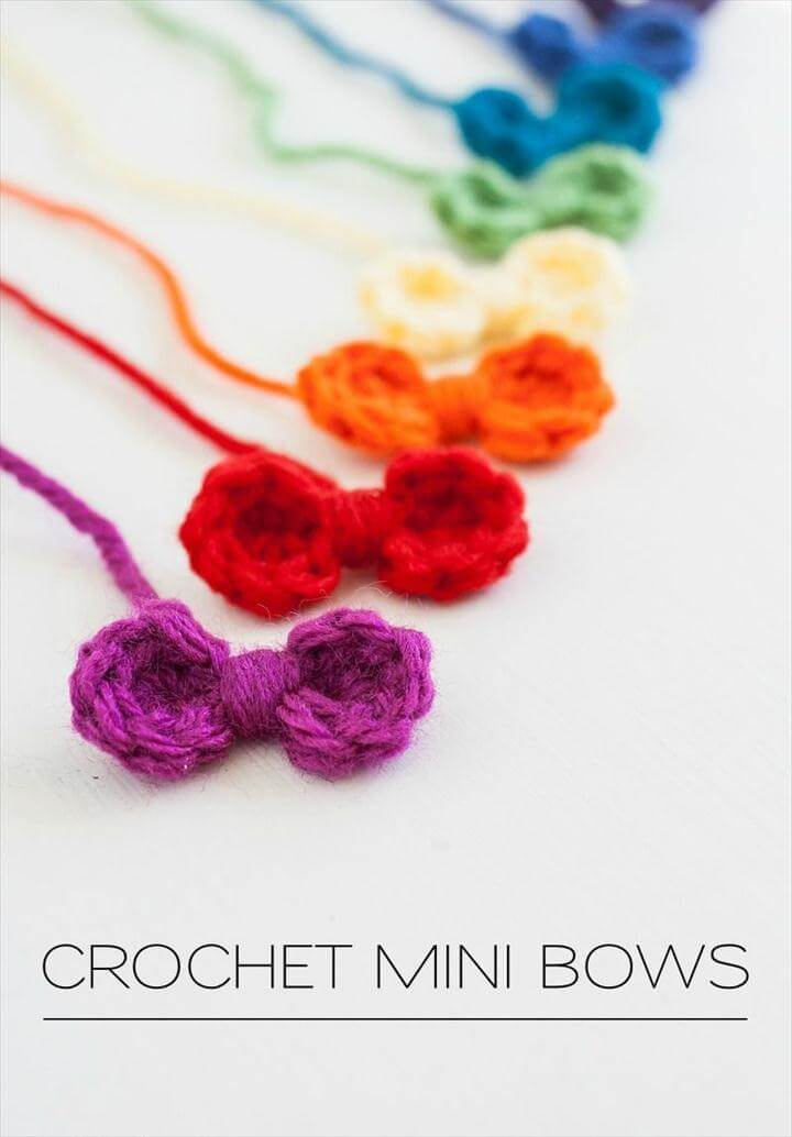 rainbow sweet mini bows i