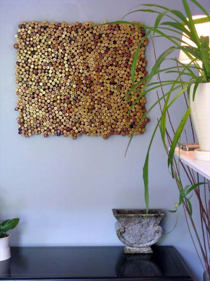 Cork Wall Art, DIY Wall Art Ideas and Do It Yourself Wall Decor for Living Room, Bedroom,